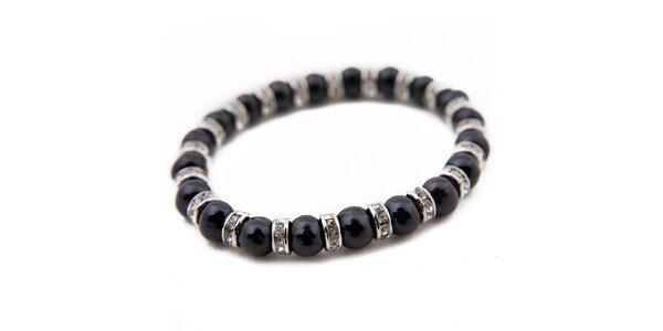 Dámský náramek z černých perel Orchira