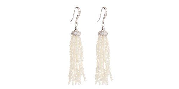 Dámské střapcové náušnice s perlami Orchira