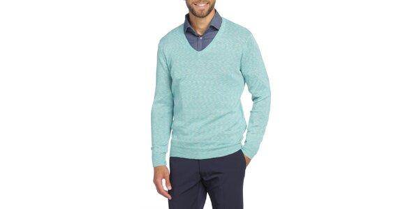 Pánský světle modrý svetr s véčkový výstřihem LIU•JO
