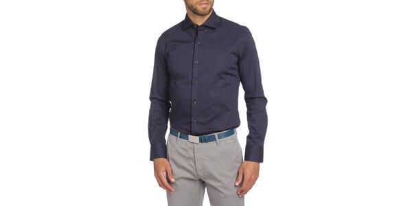 Pánská tmavě modrá košile s dlouhým rukávem LIU•JO