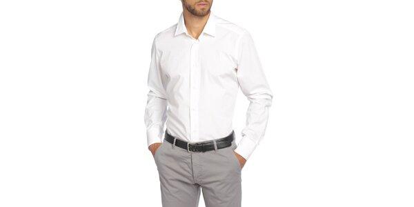 Pánská bílá košile s dlouhým rukávem LIU•JO