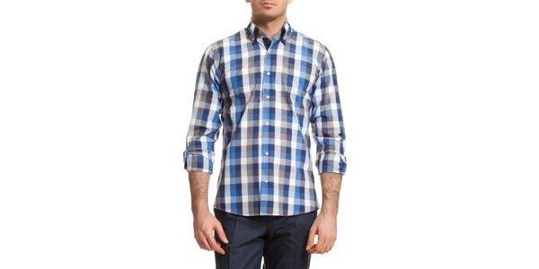 Pánská modro-šedě kostkovaná košile Dewberry