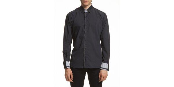 Pánská košile se vzorovanými manžetami Dewberry