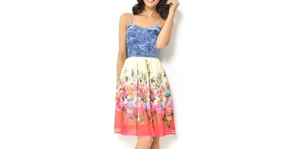 Dámské šaty s barevnými květy Dewberry