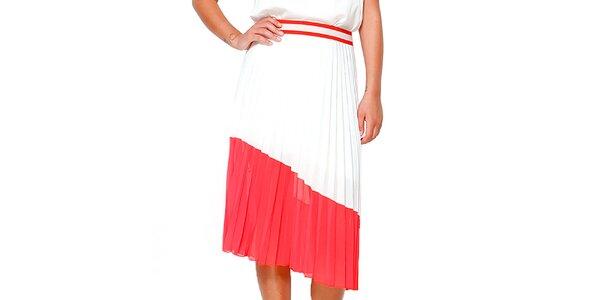 Dámská červeno-bílá skládaná sukně Dewberry