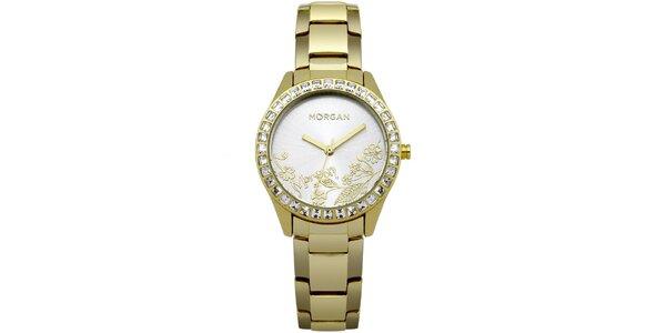 Dámské hodinky z nerezové oceli MORGAN, zlato-stříbrný ciferník