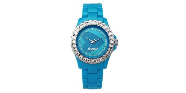 Dámské hodinky MORGAN,modrý plastový řemínek
