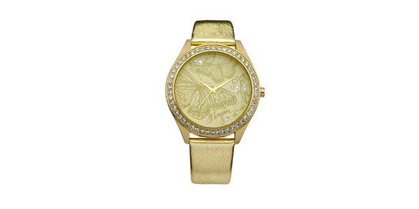 Dámské hodinky z nerezové oceli MORGAN, zlatý řemínek