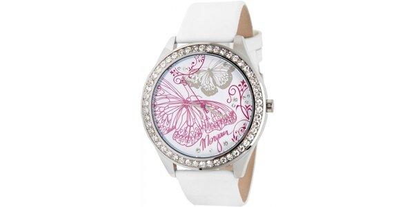 Dámské hodinky z nerezové oceli MORGAN, bílý řemínek