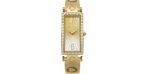 Dámské hodinky z nerezové oceli MORGAN, zlatý ciferník