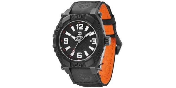 Pánské hodinky Timberland HOOKSET černo-oranžové