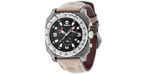 Pánské hodinky Timberland STRATHAM světle hnědé