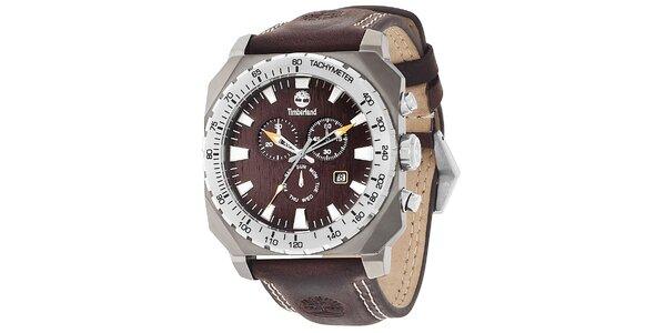 Pánské hodinky Timberland STRATHAM tmavě hnědé
