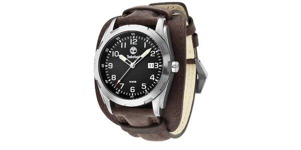 Pánské hodinky Timberland NEWMARKET, tmavěhnědý řemínek