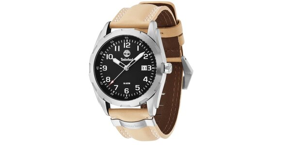 Pánské hodinky Timberland NEWMARKET, béžový řemínek