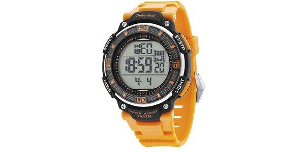 Pánské hodinky Timberland CADION, oranžový řemínek
