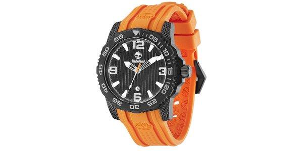 Pánské hodinky Timberland SANDOWN, oranžový řemínek