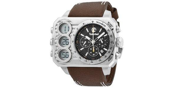 Pánské hodinky Timberland HT3, tmavěhnědý řemínek