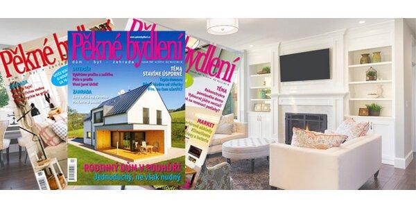 Předplatné časopisu PĚKNÉ BYDLENÍ na rok + e-předplatné