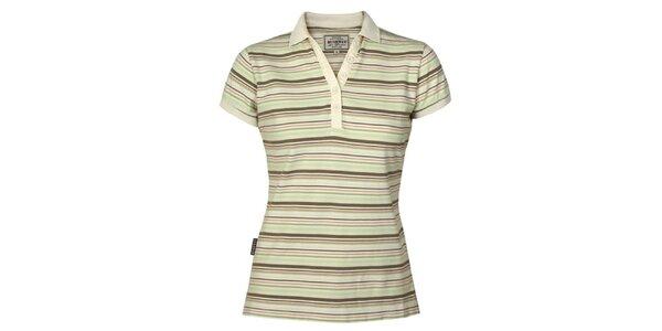 Dámské zeleno-khaki pruhované tričko Bushman