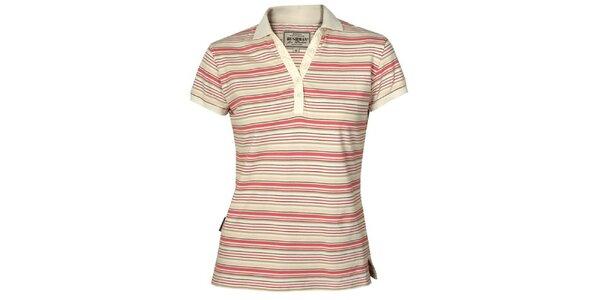 Dámské červeně pruhované tričko Bushman