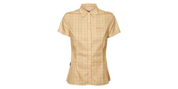 Dámská béžovo-růžová kostkovaná košile Bushman