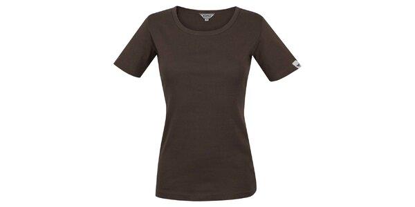 Dámské hnědé tričko s krátkým rukávem Bushman