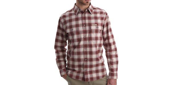 Pánská červeně kostkovaná košile Bushman