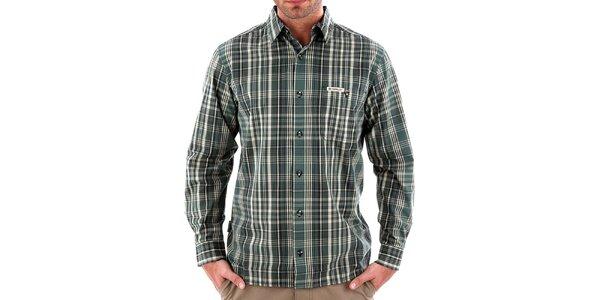 Pánská zelená pruhovaná košile Bushman