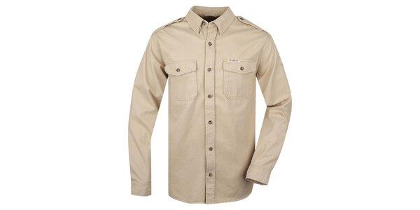 Pánská béžová košile Bushman