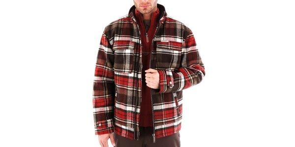 Pánská zimní kostkovaná bunda Bushman