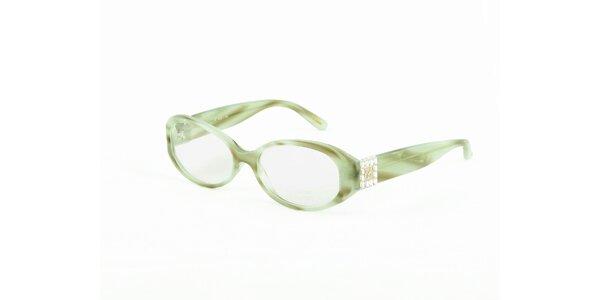 Dámské zeleno-hnědé dioptrické obroučky Chopard