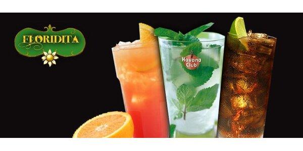 99 Kč za DVA vybrané cool drinky v sexy kubánském baru Floridita.