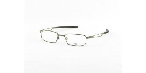 Světle šedé kovové dioptrické obroučky Oakley
