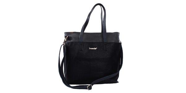Dámská jednoduchá černá kabelka Bessie