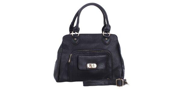 Dámská černá kabelka s kapsičkou London Fashion