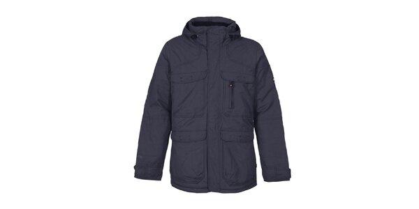 Pánská tmavě modrá funkční bunda s kapucí Bergson