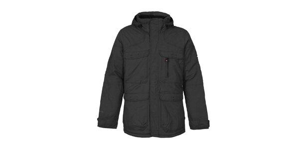 Pánská černá funkční bunda s kapucí Bergson