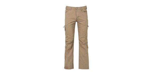 Pánské hnědobéžové outdoorové kalhoty Bergson