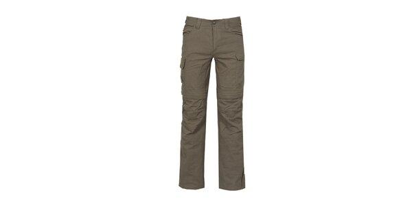 Pánské nastavitelné tmavé outdoorové kalhoty Bergson