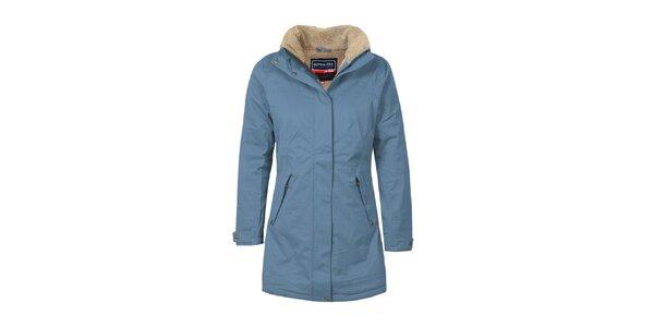 Dámský modrý funkční kabát s podšívkou Bergson