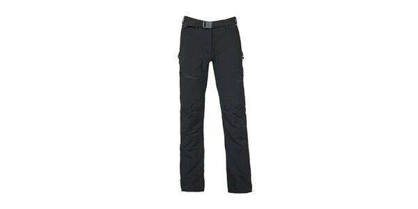Dámské černé kalhoty s páskem Bergson