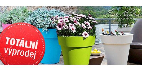 Plastové květináče Samantha v pastelových barvách