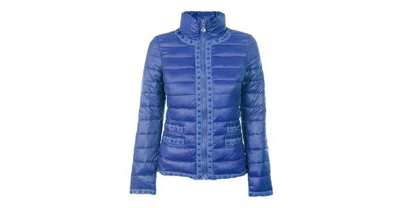 Dámská modrá prošívaná bunda s kuličkami Airy