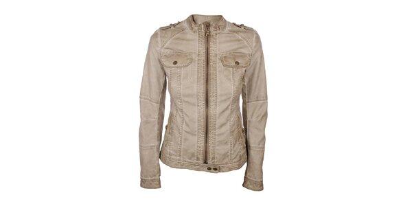 Dámská koženková bunda v béžové barvě Company&Co
