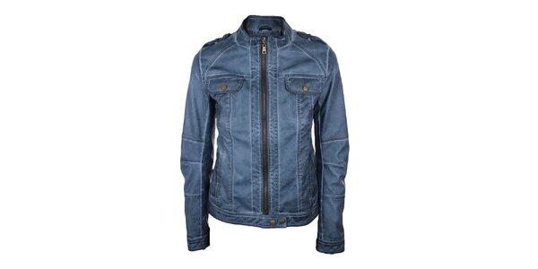 Dámská koženková bunda v modré barvě Company&Co