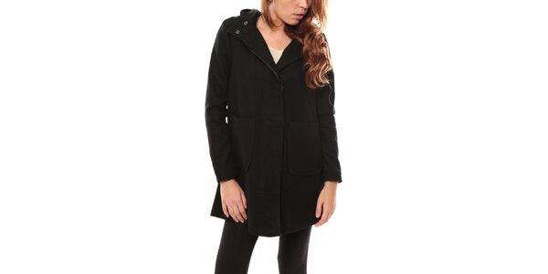 Dámský černý kabát s kapucí My Little Poesy