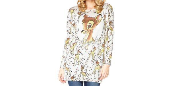 Dámský dlouhý svetr s Bambi Miss Jolie