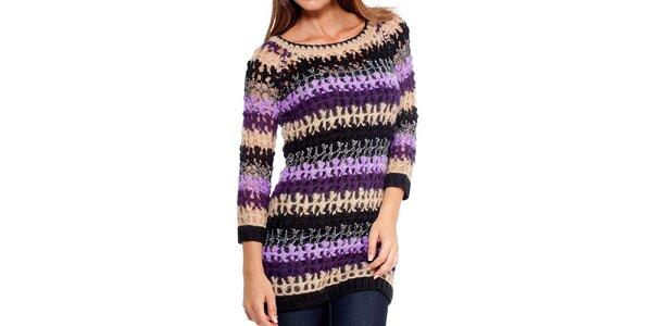 Dámský pestrobarevný pletený svetřík Peace&Love