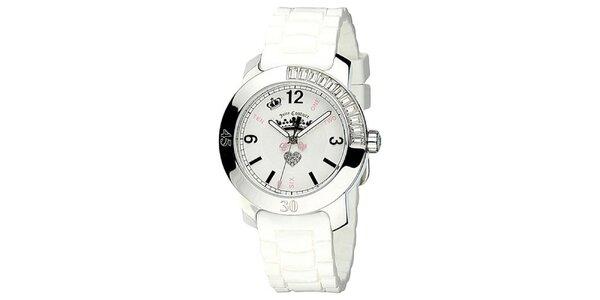 Dámské hodinky s bílým silikonovým řemínkem Juicy Couture